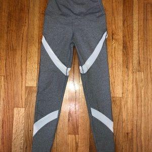 aerie Pants - AERIE - Gray/White - ATHLETIC LEGGINGS - EUC - S